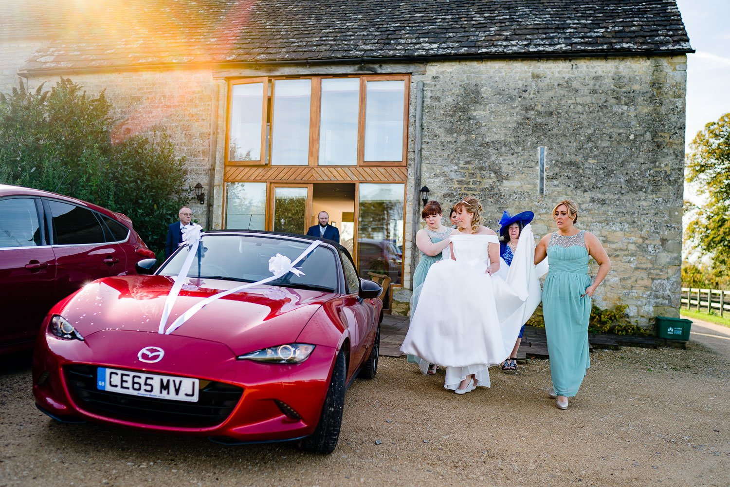 The Kingscote Barn wedding